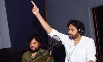 Pic Talk: Pawan Kalyan dubs, Chiranjeevi watches on