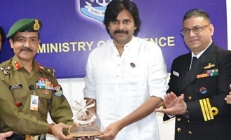 Pawan Kalyan presents Rs 1 Cr cheque to Sainik Board