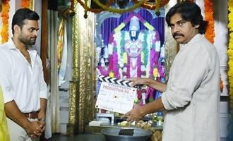 పవన్కల్యాణ్ క్లాప్తో ప్రారంభమైన సాయితేజ్ కొత్త చిత్రం