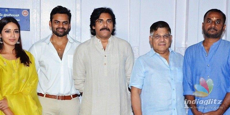 Pawan Kalyan graces launch of Sai Tej-Deva Katta project