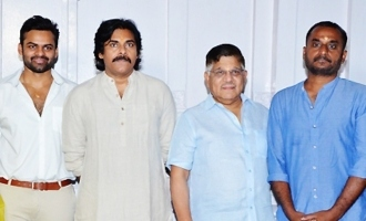 Pawan Kalyan graces launch of Sai Tej Deva Katta project