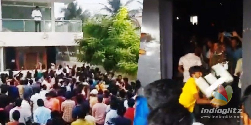 Pawan Kalyans fans damage property, stage protest outside MLAs house