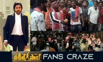 Pawan Kalyan Fans Mass Celebrations at Vakeel Saab Trailer Launch