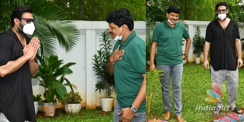 Pic Talk: Prabhas plants saplings with TRS MP