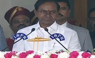 KCR & only one Minister take oath today