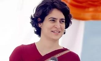 Priyanka Sena comes with TRS' colour!