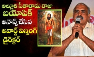 Award winning director announces Alluri Seetharama Raju biopic