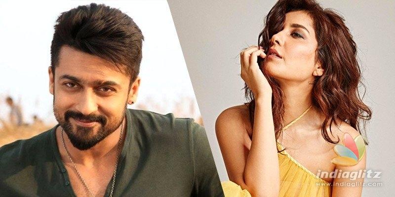 Raashi Khanna to romance Suriya!