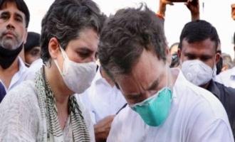 Police detain Rahul Gandhi, Priyanka Gandhi