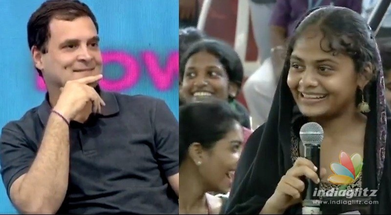 School girl calls Congress chief by name!