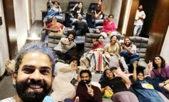 Pic Talk: SS Rajamouli, family watch 'V' in home theatre