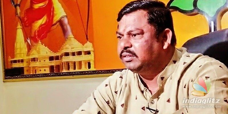 Raja Singh says Yadadri temples walls have TRS logo