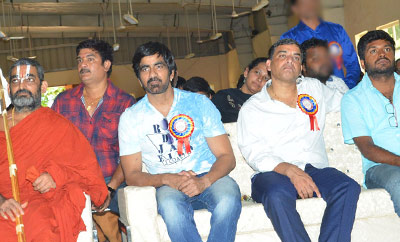 'Raja The Great' Team @ Netra Vidyalaya 10th Anniversary Celebrations
