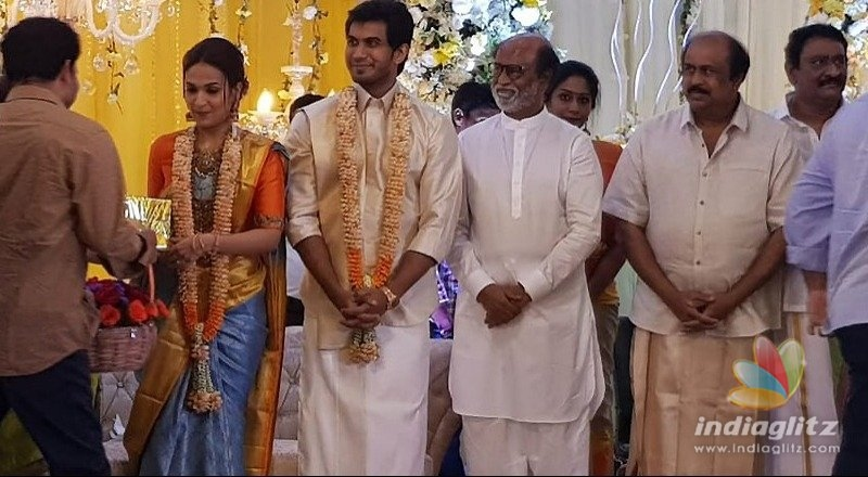 Pre-wedding reception of Rajinikanths daughter held