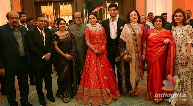 Mukesh Ambani blesses Soundarya Rajinikanth