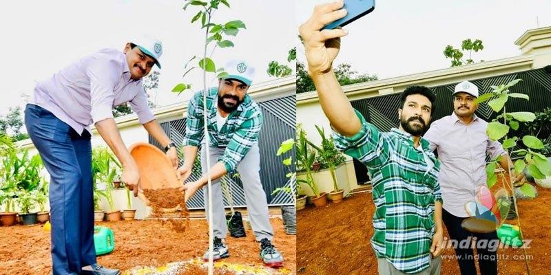 Ram Charan plants saplings, nominates Rajamouli, Alia Bhatt, fans