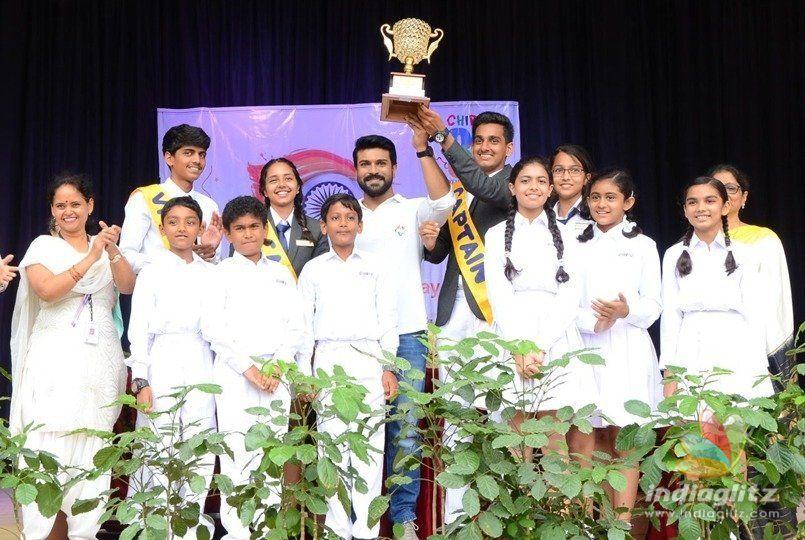 Ram Charan addresses school children on I-Day