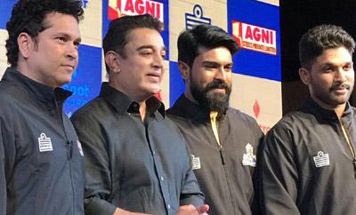 Ram Charan, Allu Arjun, Sachin @ Tamil Thalaivas Team Jersey Launch In Chennai