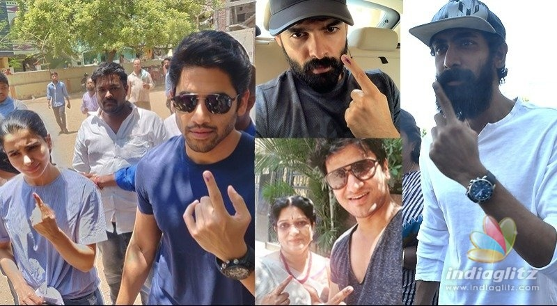 Celebs continue to trickle in to vote