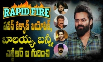 RAPID FIRE - Sai Dharam Tej on doing Pawan Kalyan's biopic