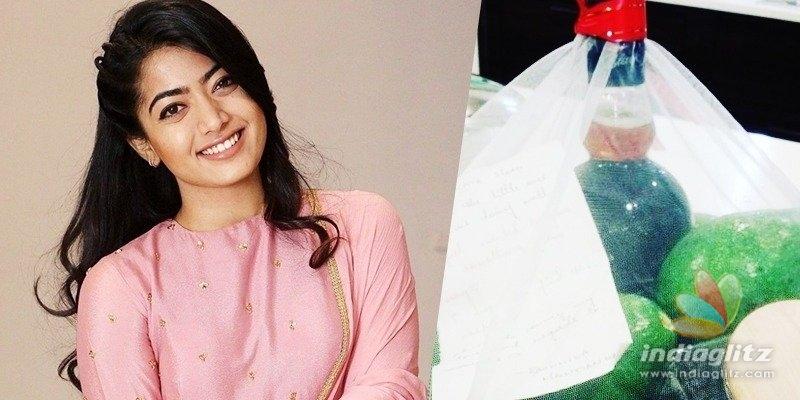Rashmika sends a yummy gift to Mahesh Babu & family