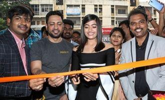 Rashmika Mandanna Launches Happi Mobiles @ Banjara Hills