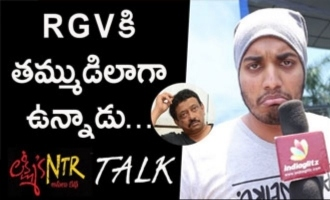 Fan imitates RGV and reviews Lakshmi's NTR