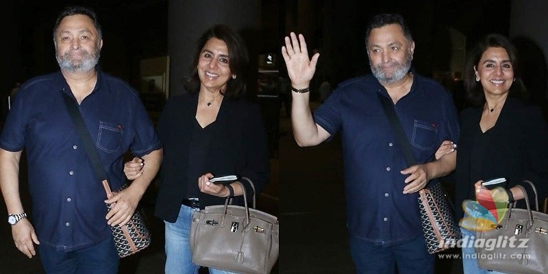 Rishi Kapoor arrives in India after cancer treatment
