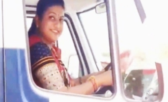 Roja drives ambulance after launching 108, 104 services in Nagari