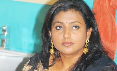Chandra Babu is suppressing top hero: Roja