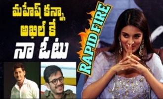 Rapid Fire - Nidhhi Agerwal on why she picks Akhil over Mahesh Babu