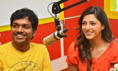 'Raja The Great' Team @ Radio Mirchi