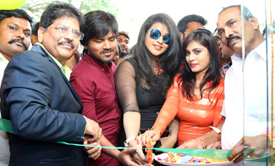 'Runam' Movie Team Launches Cellbay Shop At Nalgonda