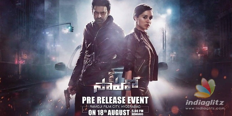 Saaho: Pre-release event date announced