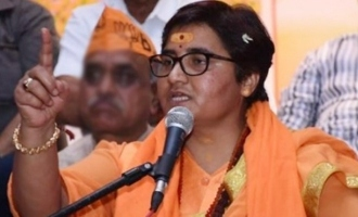 Sadhvi tenders apology for hailing Godse