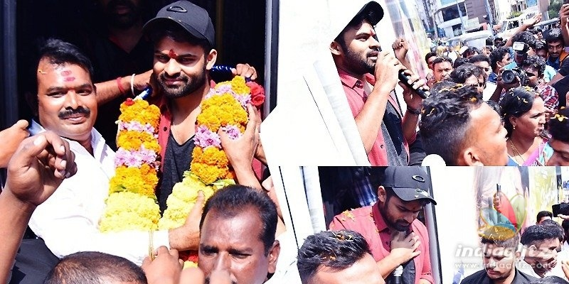 Sai Dharam Tej kickstarts early promotions