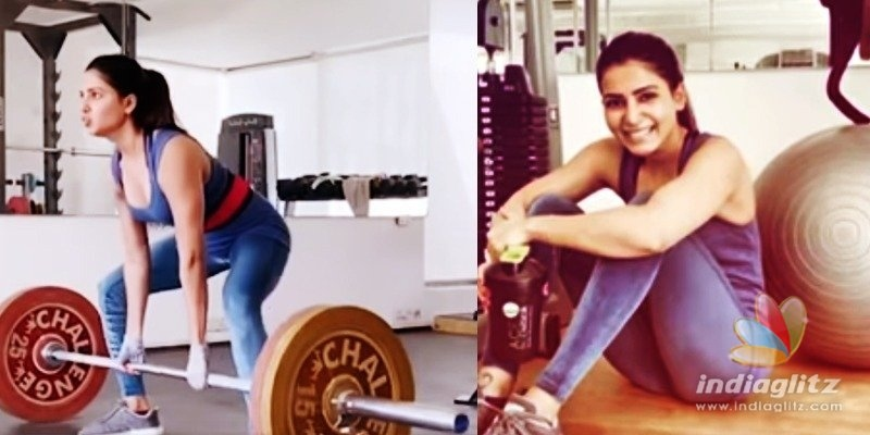 Samantha does it big-time for fitness