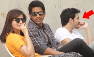 Samantha Fun Moments WIth Chaitanya On Sets