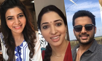 Tamannah, Samantha, Nithin Wishes 'Kalyana Vaibhogame' Team