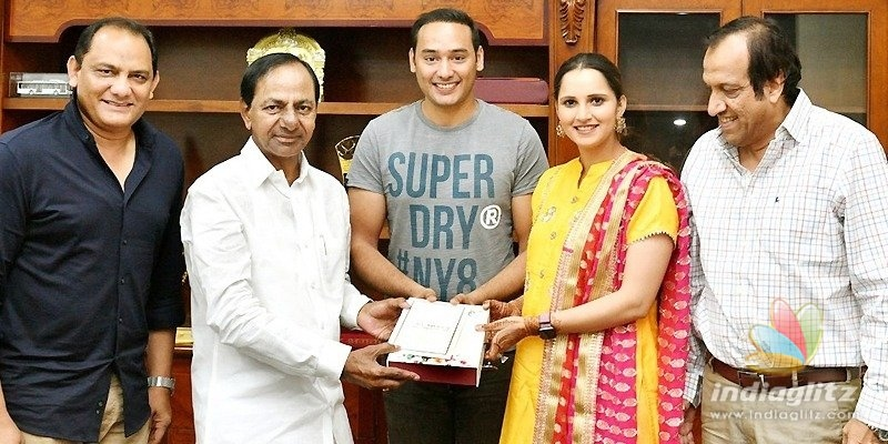 Pic Talk: Sania Mirza, Azhar invite KCR for family wedding