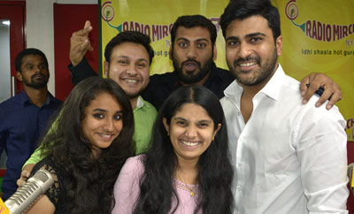 Sharwanand at Radio Mirchi in Vijayawada