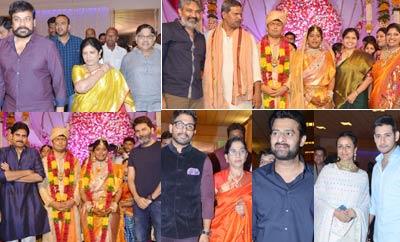 Celebs @ Producer Shyam Prasad Reddy's  Daughter Wedding