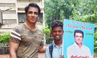 Fan walks 700 km barefoot to meet Sonu Sood