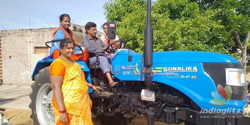 Sonu Sood sends tractor to a family in AP; fans call him superhero, superman, etc.