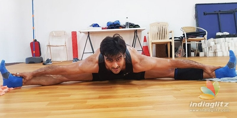 Sudheer Babu working out for 8 hours in gym