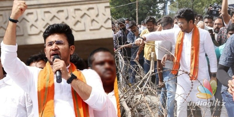 BJP slams Nizam rule of TRS after case against Tejasvi Surya