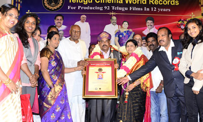 Telugu Cinema World Records Felicitation