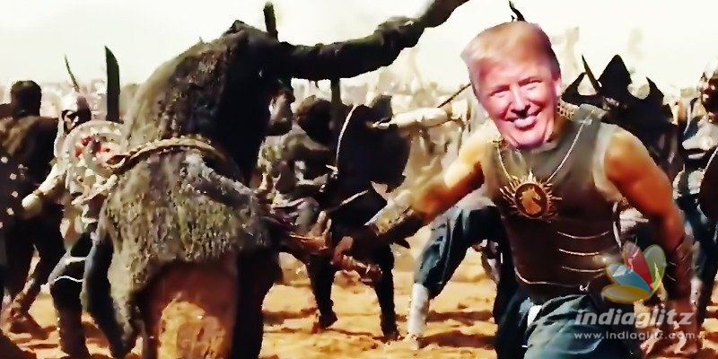 Trump becomes Prabhas character, Team Baahubali is thrilled!