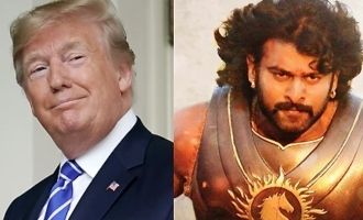 Trump becomes Prabhas' character, Team 'Baahubali' is thrilled!