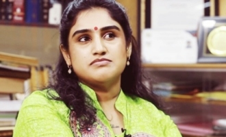 Son makes shocking comments on actress Vanitha's third husband